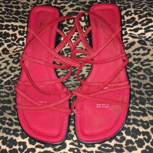 Life Stride red sandals